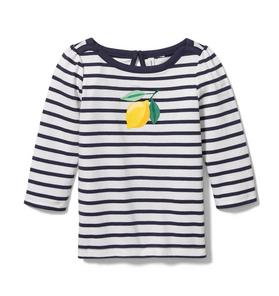 Lemon Striped Tee