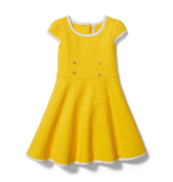 Textured Paisley Dress