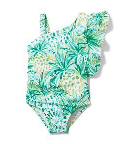 Pineapple Ruffle Swimsuit