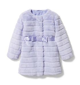 Channel Faux Fur Coat