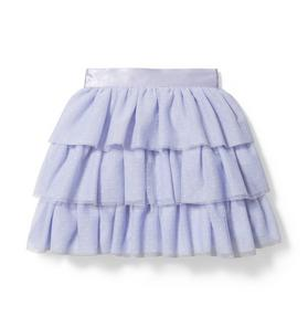 Tiered Dot Tulle Skirt