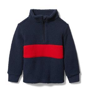 Colorblocked Sherpa Sweatshirt