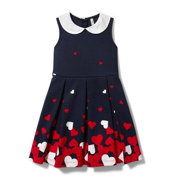 Heart Border Ponte Dress