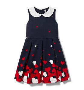Heart Border Ponte Dress