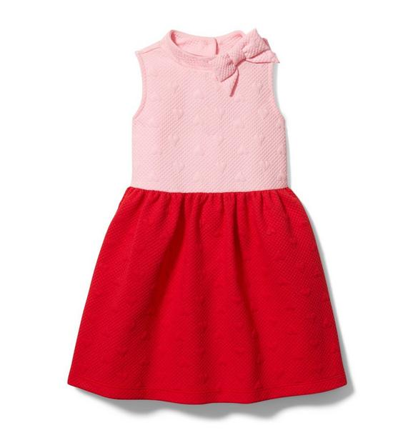 Colorblocked Quilted Heart Dress
