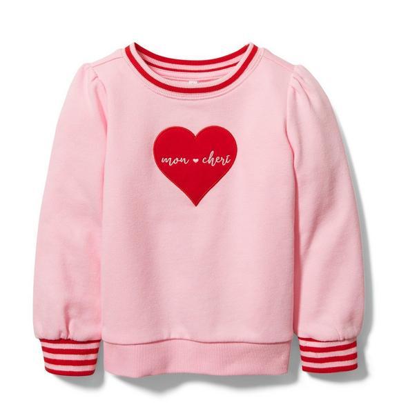 Mon Cheri Heart Sweatshirt