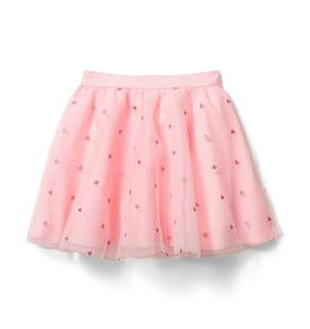 Glitter Heart Tulle Skirt