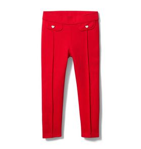 Heart Button Ponte Pant
