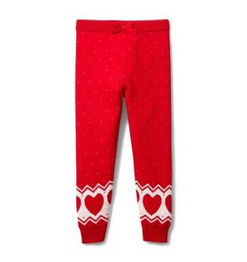 Fair Isle Heart Sweater Pant