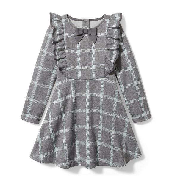 Janie and Jack Plaid Jacquard Dress