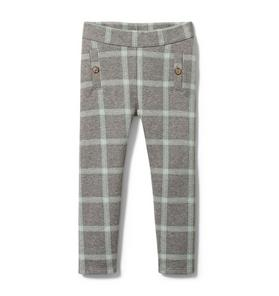 Plaid Jacquard Pant