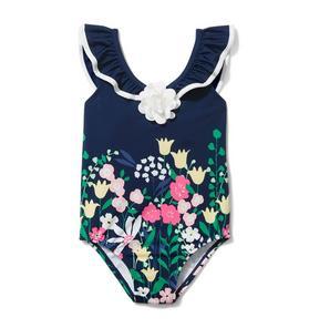 Floral Border Swimsuit