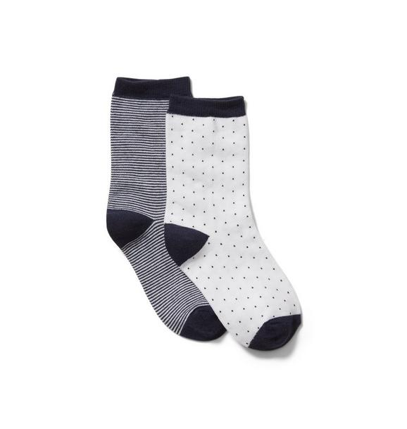 Striped And Dot Sock 2-Pack