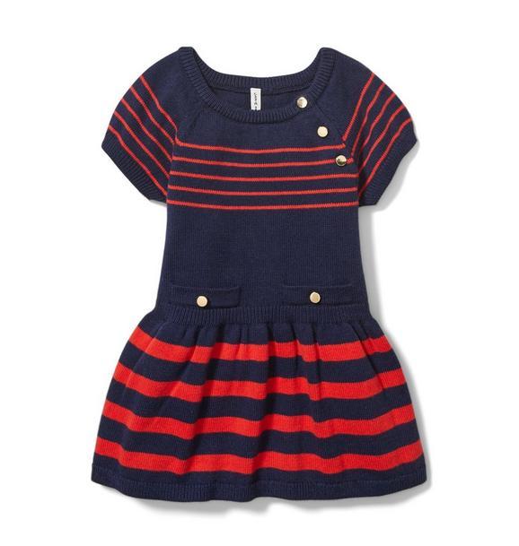 Baby Striped Sweater Dress