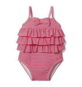 Baby Tiered Striped Swimsuit
