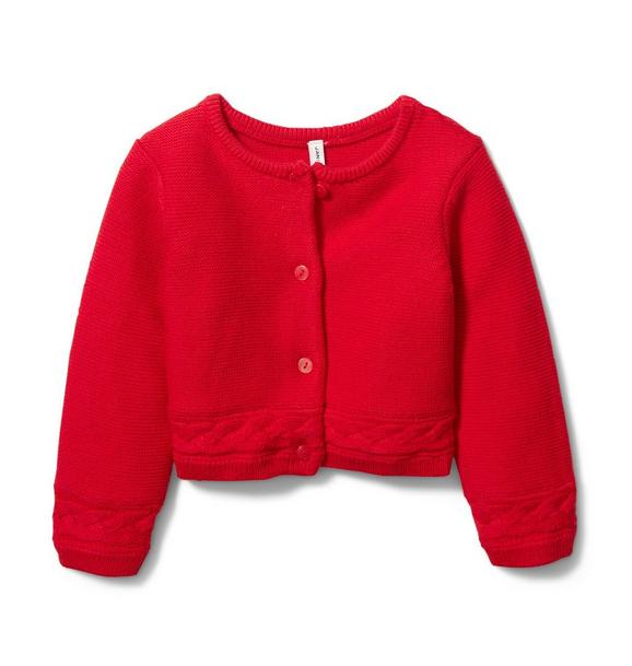 Baby Cable Trim Cardigan