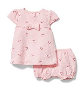 Baby Quilted Heart Matching Set