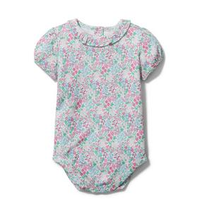 Baby Floral Ruffle Collar Bodysuit