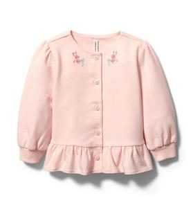Baby Embroidered Peplum Cardigan