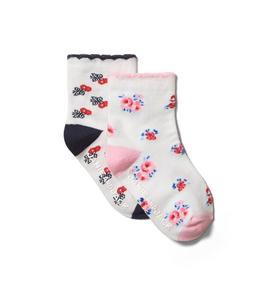 Baby Floral Sock 2-Pack