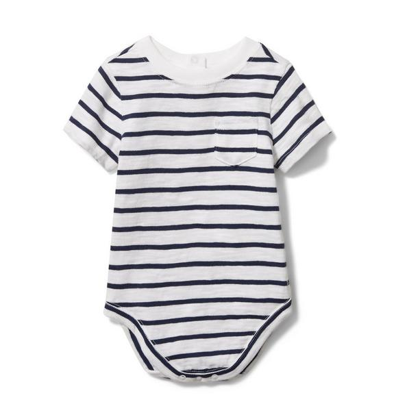 Baby Striped Slub Pocket Bodysuit