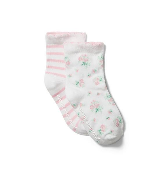 Baby Striped and Floral Sock 2-Pack