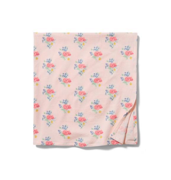 Baby Floral Swaddle Blanket
