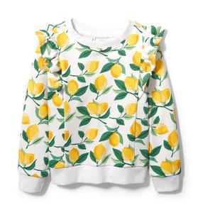 Lemon Ruffle Sweatshirt