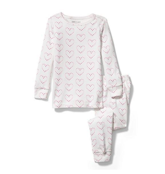 Heart Print Pajama Set