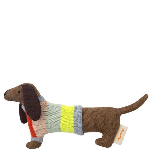 MERI MERI Dog Rainbow Sweater Rattle