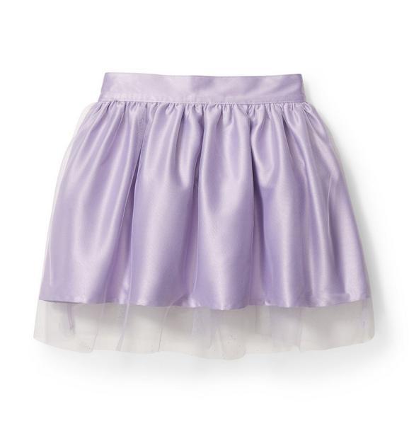 Kimberly Goldson Satin Tulle Skirt