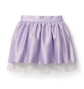 Kimberly Goldson Satin Tulle Skirt