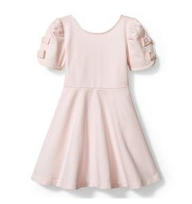 Kristian Loren Bow Sleeve Ponte Dress