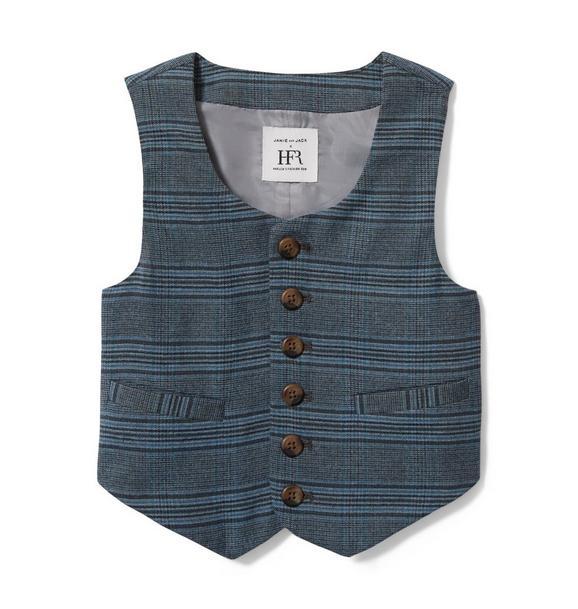 Richfresh Plaid Suit Vest