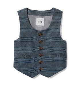 Richfresh Plaid Suit Vest