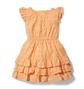 Rachel Zoe Eyelet Tiered Ruffle Dress