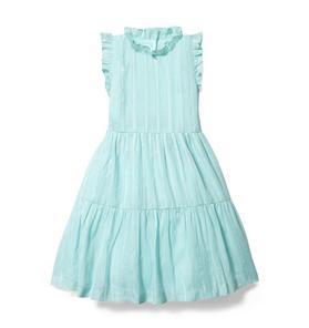 Rachel Zoe Lurex Ruffle Dress
