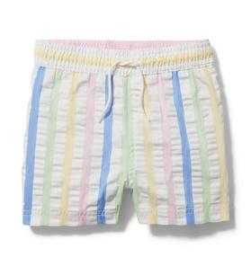Striped Seersucker Swim Trunk