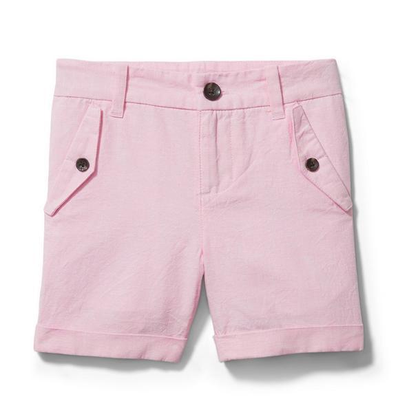 Cuffed Linen Short