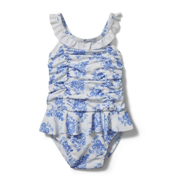 Baby Floral Ruched Swimsuit