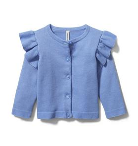Baby Ruffle Shoulder Cardigan