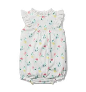 Baby Ditsy Floral Ruffle Sleeve Romper