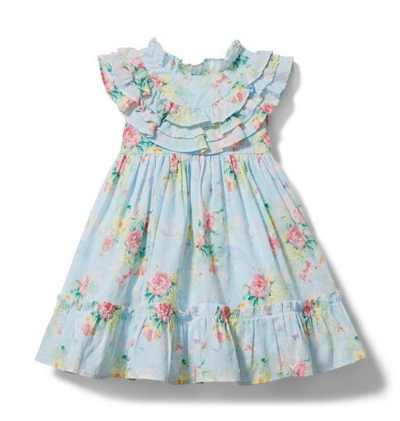 Baby Floral Swiss Dot Dress