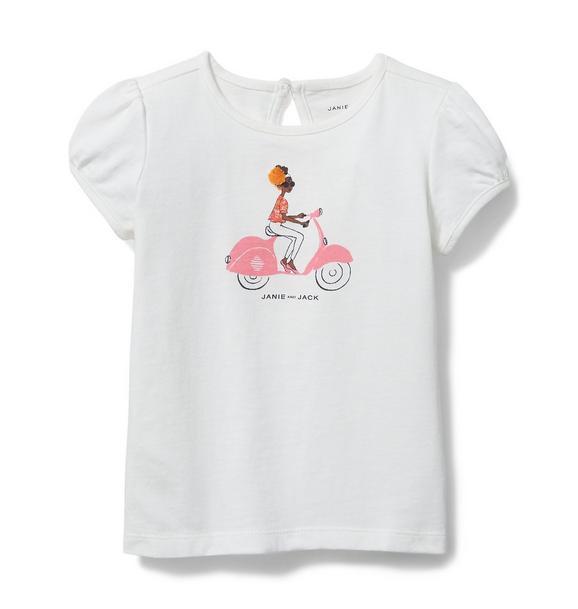 Puff Sleeve Bicycle Tee
