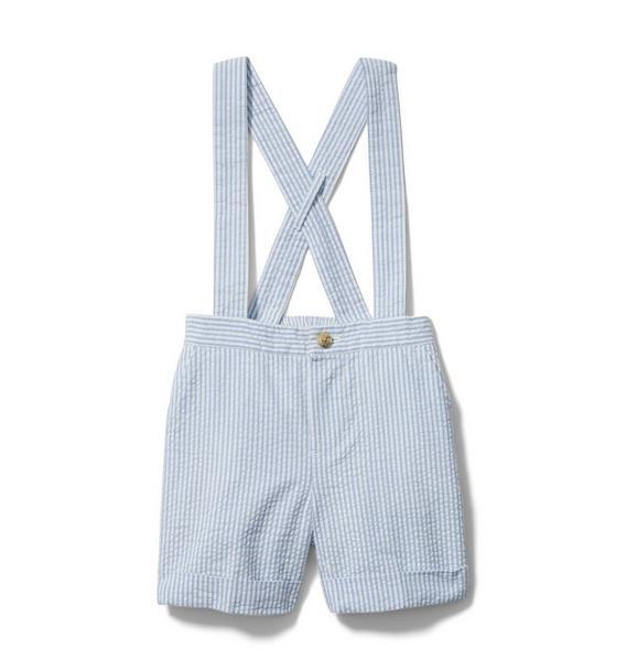 Baby Seersucker Suspender Short