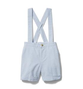 Baby Seersucker Suspender Short