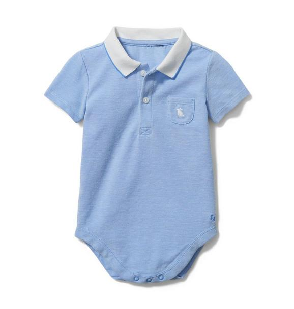 Baby Embroidered Polo Bodysuit