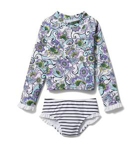 Paisley Rash Guard Set