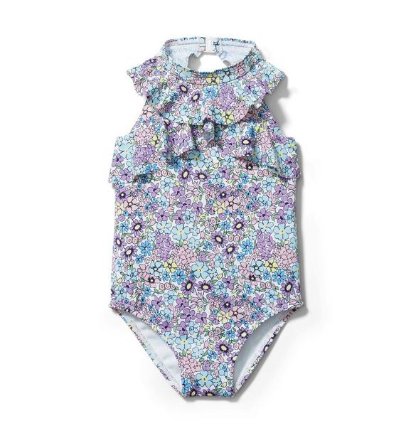 Ditsy Floral Ruffle Swimsuit