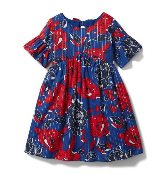 Floral Lurex Dress